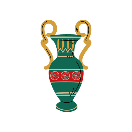 Ancient Vase, Symbol of Traditional Egyptian Culture Vector Illustration