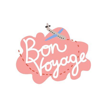 Bon Voyage, Have Nice Trip Banner Template Vector Illustration Illustration