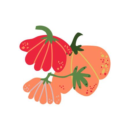 Pumpkin Fresh Vegetable, Organic Nutritious Vegetarian Food for Healthy Diet Vector Illustration on White Background. Illustration