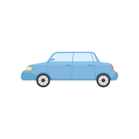 Blue sedan car, side view vector Illustration Ilustração