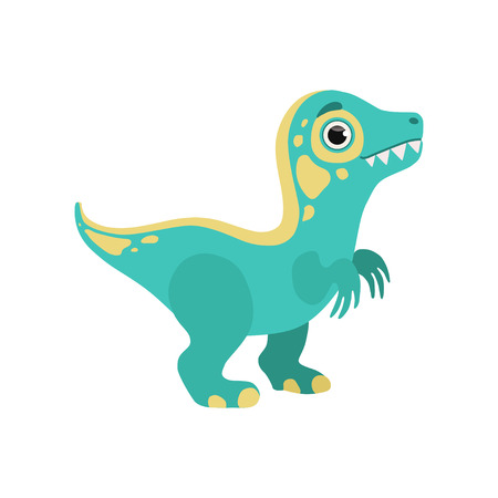 Cute blue dinosaur, lovely baby dino cartoon character vector Illustration Banque d'images - 121160704