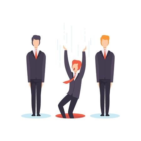Suchen Sie die beste Person aus der Gruppe, dem Geschäftswettbewerb, den Arbeitssuchenden, der Arbeitslosigkeitskonzeptvektorillustration lokalisiert auf einem weißen Hintergrund. Vektorgrafik