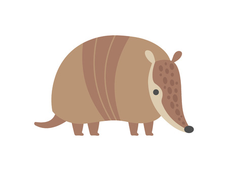 Cute Armadillo Pleistocene Animal Cartoon Vector Illustration Reklamní fotografie - 122807860