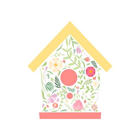 Animaux mignons avec queue faite de motif floral sans couture, belle illustration vectorielle de personnage de dessin animé animal sur fond blanc. Vecteurs