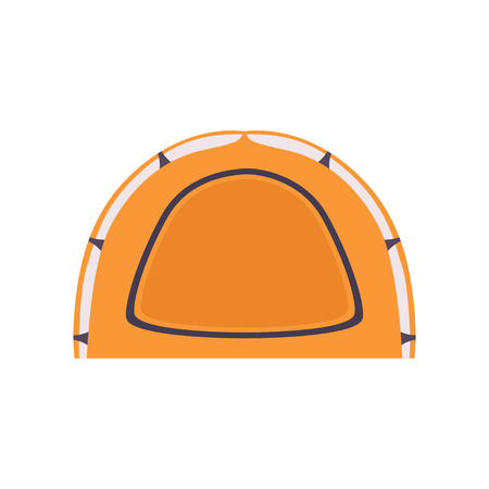 Orange Camping Tourist Tent, Summer Rest Design Element Vector Illustration Çizim