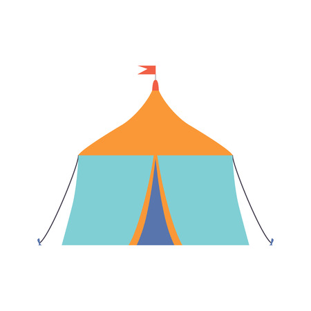 Festive Tent, Open Air Festival, Outdoor Summer Concert Design Element Vector Illustration