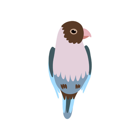 Little Bird, Cute Birdie Home Pet Vector Illustration on White Background.