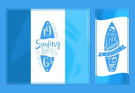 Surfing Best Ride Banner Template, Travel and Summer Vacation Design Element Vector Illustration, Web Design.