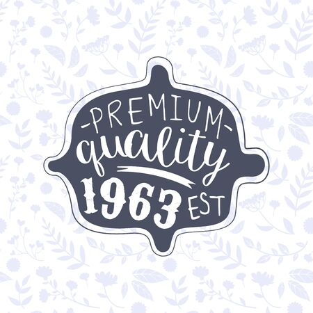 Premium Quality Banner Template, Retro Vintage Badge or Label Vector Illustration