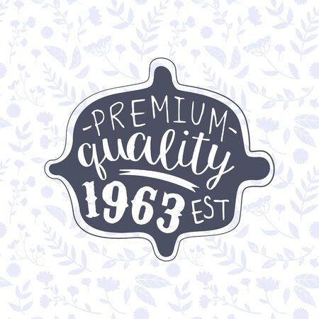 Premium Quality Banner Template, Retro Vintage Badge or Label Vector Illustration Archivio Fotografico - 127639861
