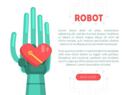 Robot Website, Landing Page Template, Robotic Software, Automation, Artificial Interlligence oncept Vector Illustration Illustration