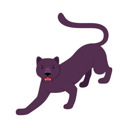 Black Panther. Vector illustration on a white background.