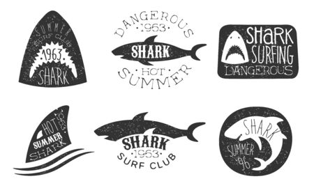 Set of icon for a diving club. Vector illustration on a white background.