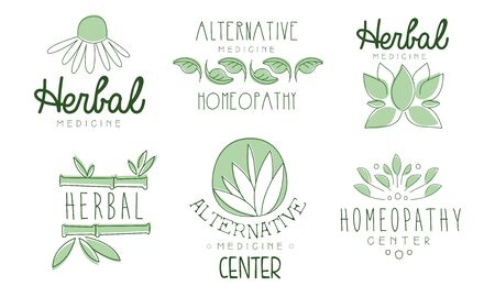homeopathy. Vector illustration.