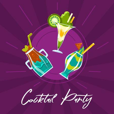Cocktail party. Vector illustration. Banque d'images - 134691467