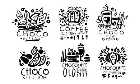 Set for a coffee shop. Vector illustration.