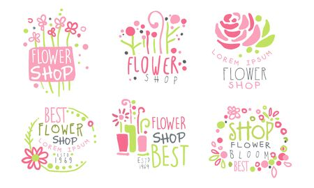 a flower shop. Vector illustration. Foto de archivo - 133572238