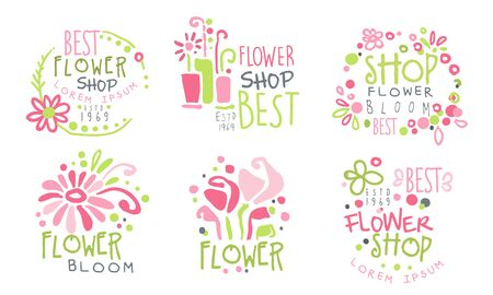 a flower shop. Vector illustration. 向量圖像