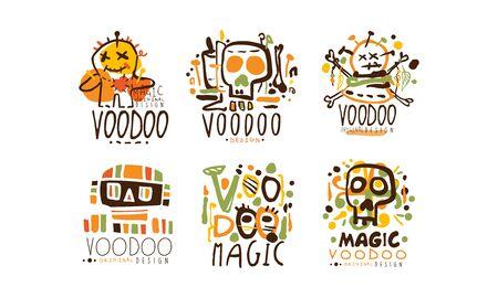 Voodoo and Magic Labels Design Vector Set 向量圖像