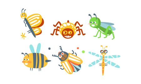 Funny Cartoon Insects Collection
