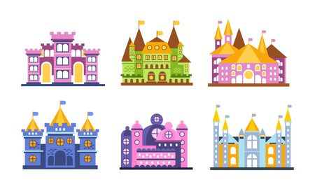 Medieval Castles Vector Set For Design and Web Isolated on White Background