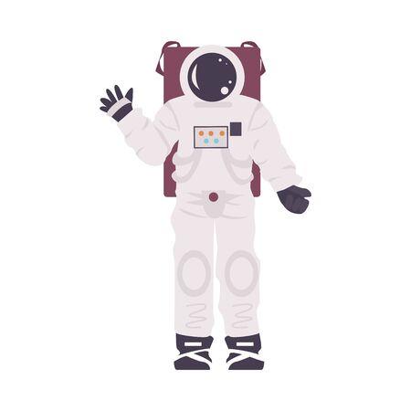 Atrificial Costume of Astronaut Installation in Planetarium Vector Illustration Ilustração