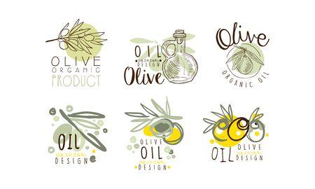 Olive Oil Labels  Design Vector Set
