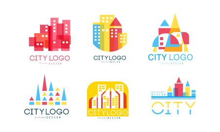 City Design Vector Set. Real Estate Emblem Concept