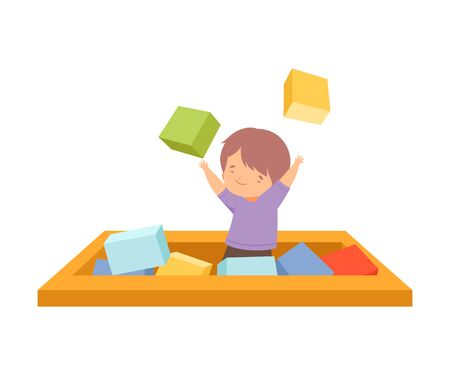 Active Children Leisure Vector Illustration on White Background.