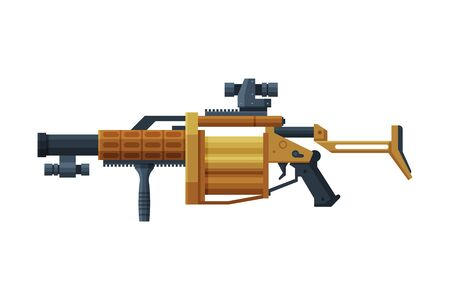 Rocket Launcher, Military Army Weapon Object Flat Style Vector Illustration Illustration