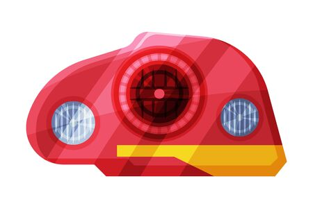 Car Headlights, Rare Headlamps, Brake Lights Flat Style Vector Illustration on White Background