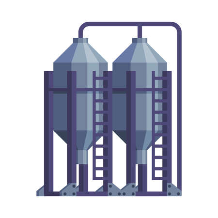 Silo Storehouse for Grain Storage Agricultural Building Cartoon Vector Illustration Illustration
