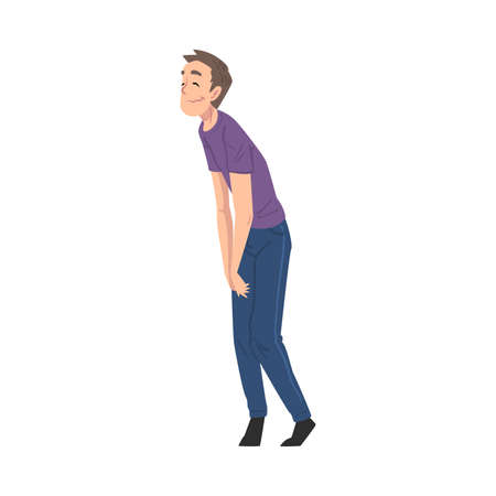Drunk Young Man Man Walking Tipsy Screwed, Drunkenness, Bad Habit Concept Cartoon Style Vector Illustration Illustration