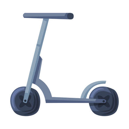 Kick Scooter or Balance Bike, Eco Transport, Healthy Lifestyle Concept Cartoon Style Vector Illustration