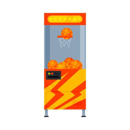 Basketball Game Machine, Amusement Gaming Machinery Vector Illustration