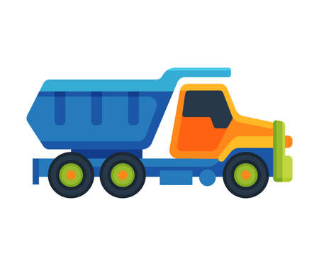Truck Baby Toy, Cute Colorful Plastic Plaything for Toddler Kids Flat Vector Illustration