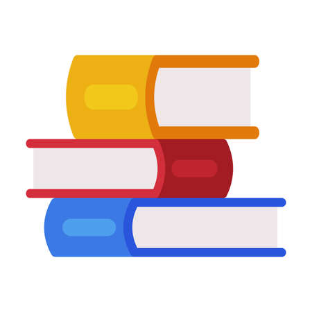 Stack of Colorful Books, Reading and Education, Back to School Concept Flat Style Vector Illustration Vetores