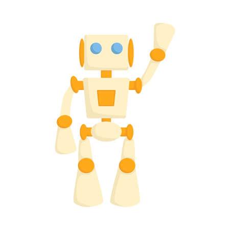 Cute Robot High Tech Innovation Technology Science Cartoon Style Vector Illustration