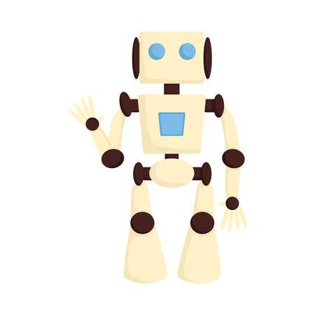 Cute Robot Modern High Tech Innovation Technology Concept Cartoon Style Vector Illustration