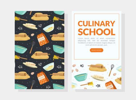 Culinary School Landing Page, Cooking Recipe, Homemade Food Website, Onboard Screen Cartoon Vector Illustration