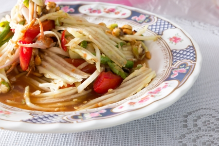 Green papaya salad Stock Photo - 17819370