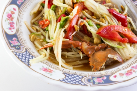 Green papaya salad Stock Photo - 17819371