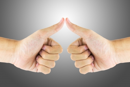 The recognition by using hand gestures Stock Photo - 18790893