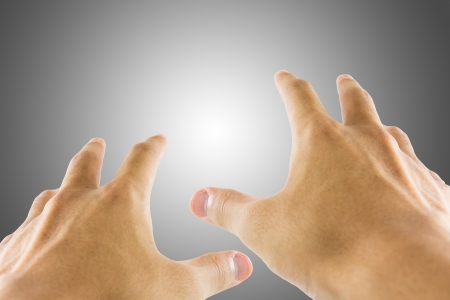 Sense by using hand gestures Stock Photo