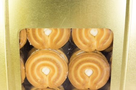 cookie cream in box set Stock Photo - 18790952