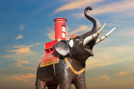 Elephant Statue beautiful in Thailand Stock Photo - 18954783