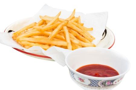 フライド ポテトは、世界で人気のある食べ物です。 写真素材
