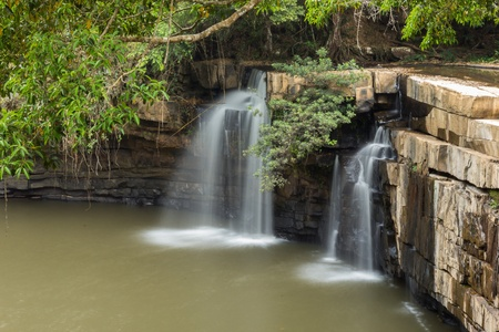 Beautiful waterfall in a Thailand photo
