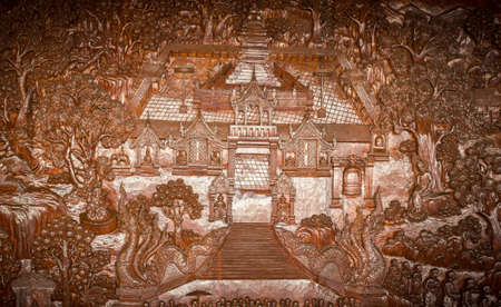The ancient and beautiful art of Thailand Stock Photo - 19778204