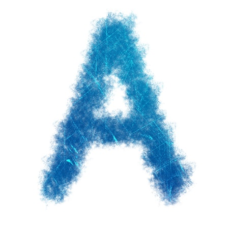 the image of English letters is light line on white background Stock Photo